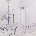 Bill Turner's drawing of the Tower House