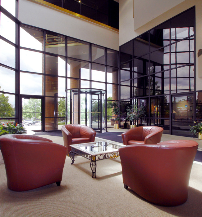 Interior lobby of commercial office space
