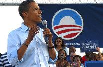 Barack Obama visits Dublin Oh. as his first campaign stop after being nominated.