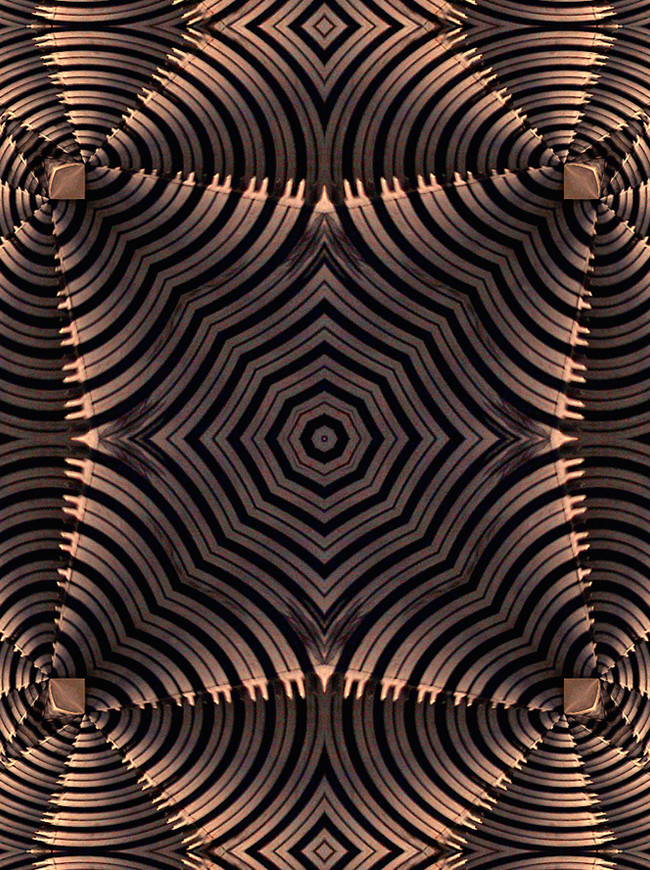 One in a series of pattern figments. This image was extracted from a photo of an escalator.