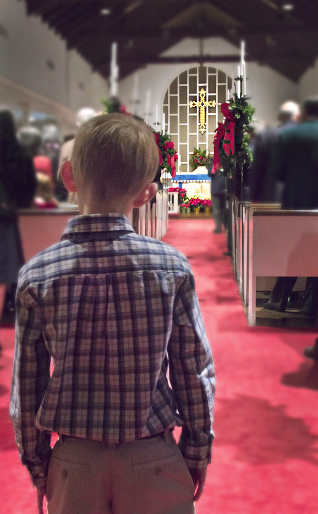 Christmas eve and a young man contemplates, what's Christmas all about?