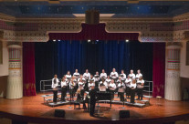 Columbus State College choir sings in the new Lincoln theater