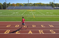 Documentation of new artificial turf at Upper Arlington High School. Shot for architectural firms