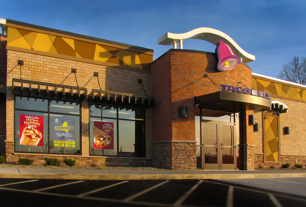 Exterior Of The Updated Design For Taco Bell Stores.