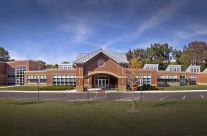 School exterior of Beechwood Elementary in Whitehall, image created for architectural firms.