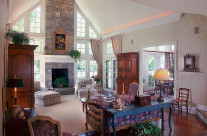 Interior residence great room, design by Marlene Medick, used in her portfolio