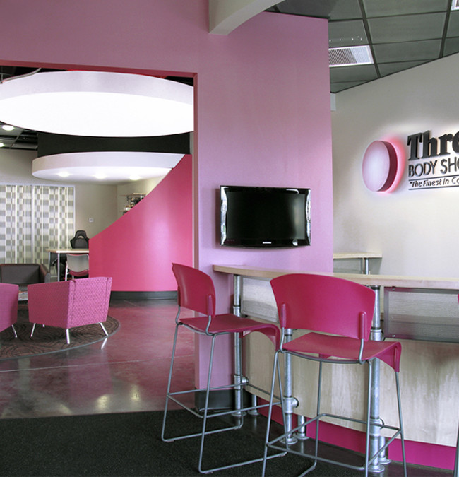 Interior for the designers of smaller drive through estimate shops for Three C Body repair shops.