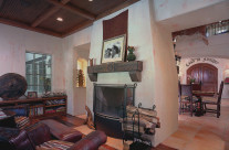 Reading area of a custom home designed and built by Brian Wiland