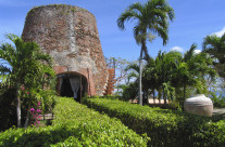 Island of St. Thomas, a 1620 sugar cane windmill converted into a residence.