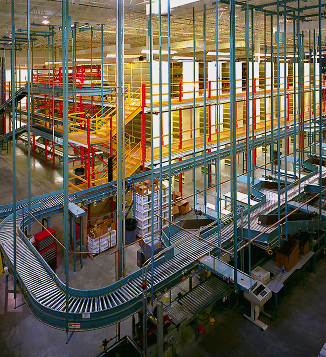 An automated retrieval and shipping facility for Jegs auto parts in Delaware Oh.