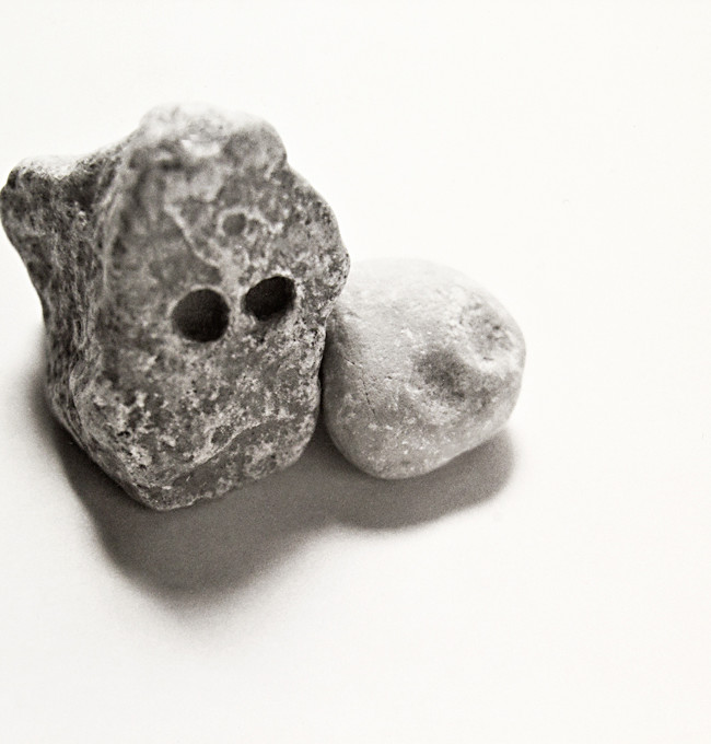 I found these individual pieces then introduced them to one another. They just seemed to fit together, Mr. & Mrs. Rock