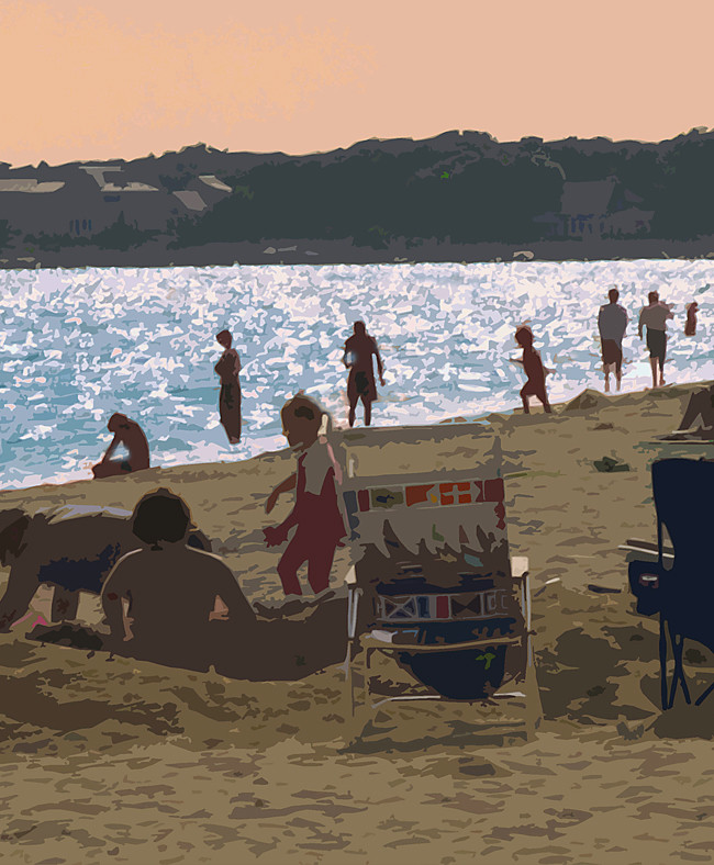 Personal work, Cape Cod, a late afternoon at the beach