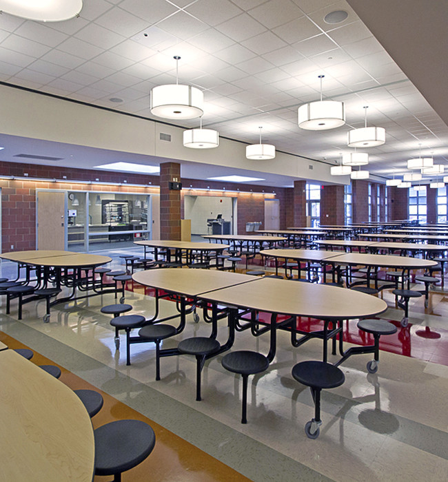 The new Whitehall high school cafeteria