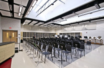New music room at the Whitehall High School.