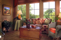 Newly decorated sun room photographed for the interior designer.