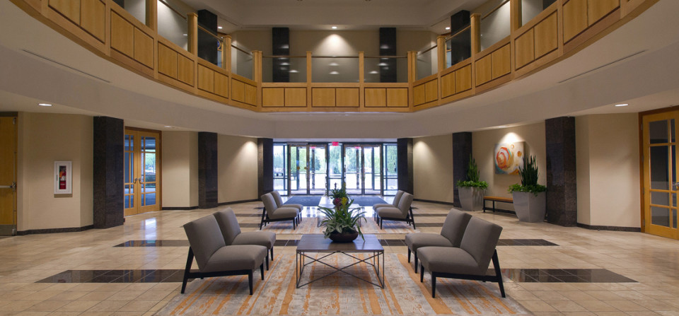 Documentation of an upgraded lobby interior for a commercial property company.