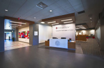Entrance area to the OSU Wexner out patient medical center in Upper Arlington, Ohio.
