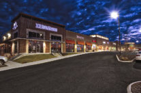 Supporting an update for a construction firm's web site. Strip malls look better at night.