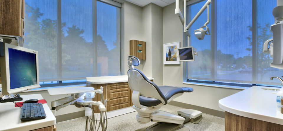 One of the treatment rooms of the recently completed dental services at the OSU Outpatient Medical Center.